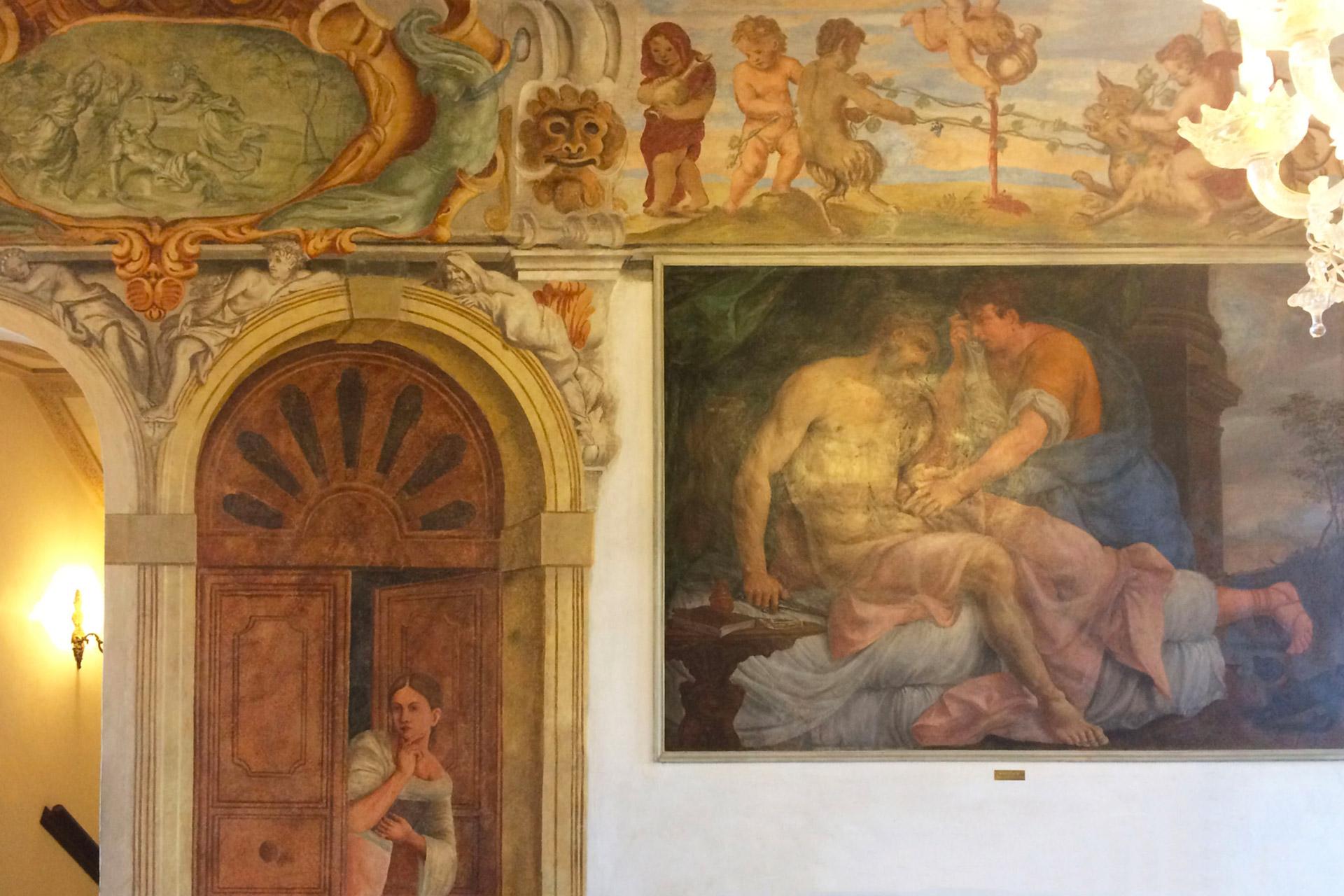 Agna_Affresco all'interno di Palazzo Mingoni