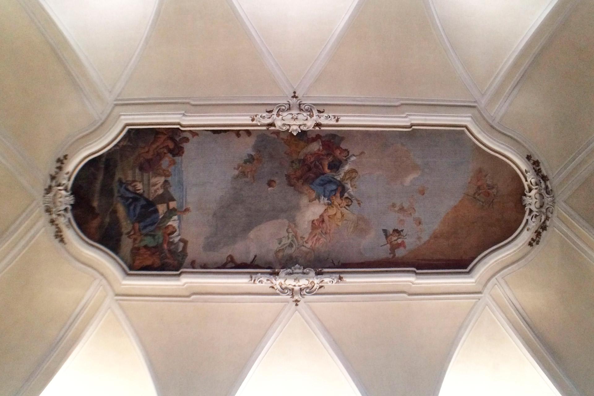 Cartura_Affresco del soffitto della Chiesa di S. Maria Assunta
