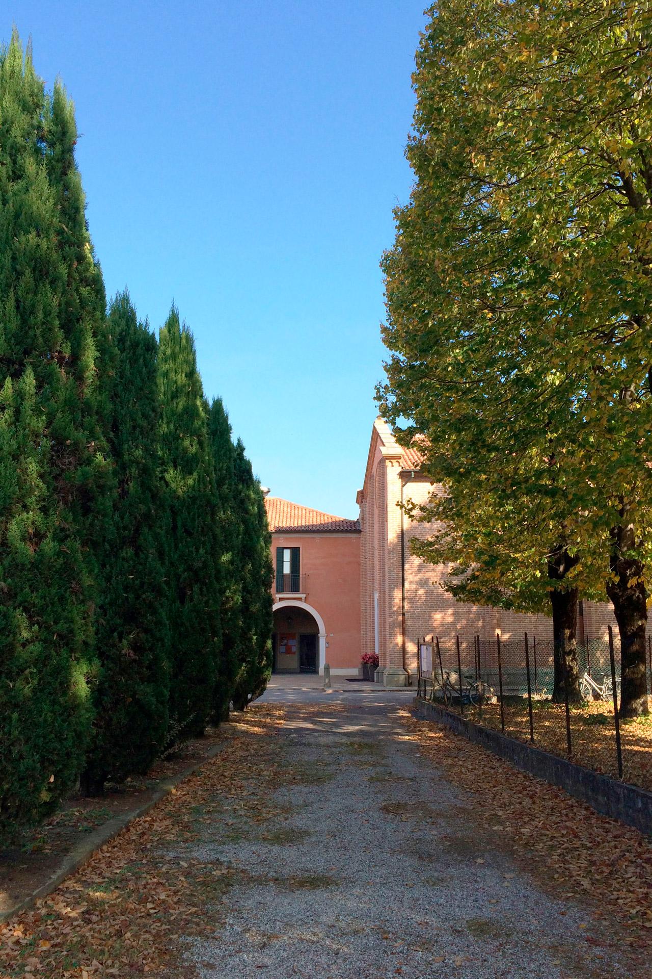 San Pietro Viminario_Scorcio del viale vicino alla chiesa