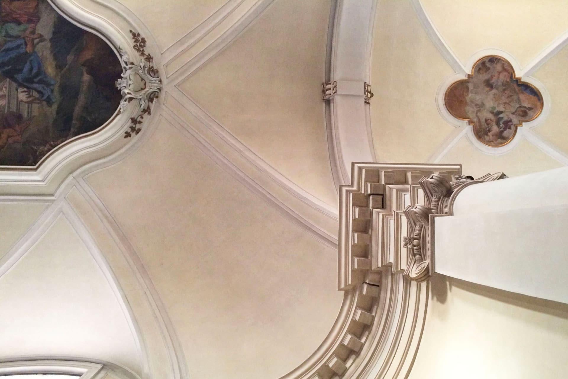 Cartura_Dettaglio del soffitto della Chiesa di Santa Maria Assunta